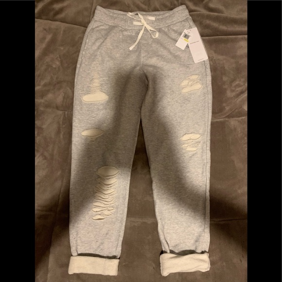 af823982a8 ALO Yoga Pants | Alo Distressed Sweat Brand New With Tags | Poshmark